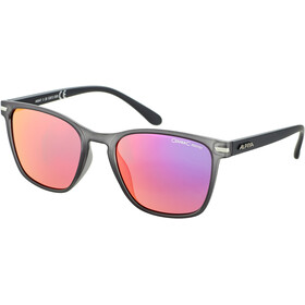Alpina Yefe Lunettes, grey transparent matt/rose-gold mirror